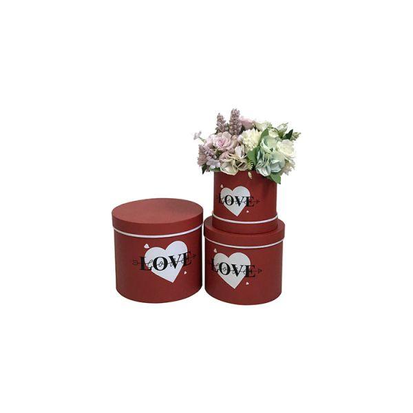 Set 3 cutii flori S3.117 rosu