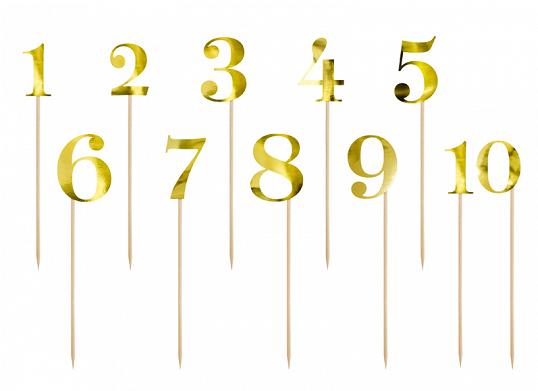 Decor numere masa auriu S/11
