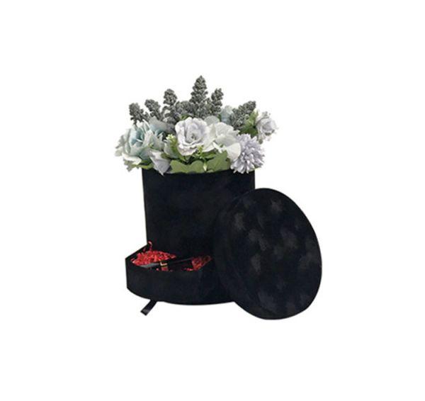 Cutie flori S1.1 negru catifea