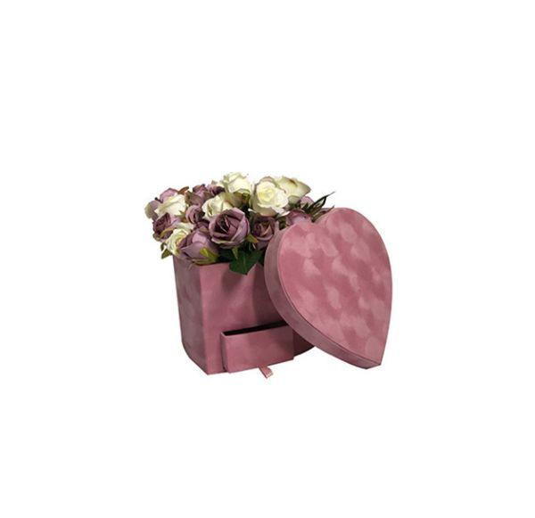 Cutie flori S1.23 roz catifea