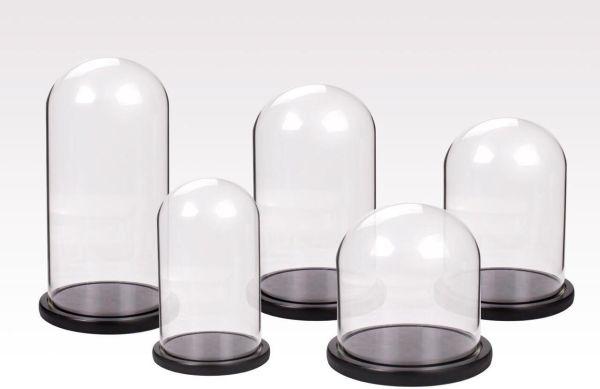 Cupola sticla 15x25cm blat negru