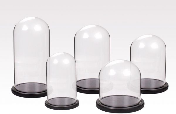Cupola sticla 18x30cm blat negru