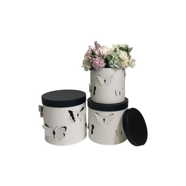 Set 3 cutii flori s3.116 alb