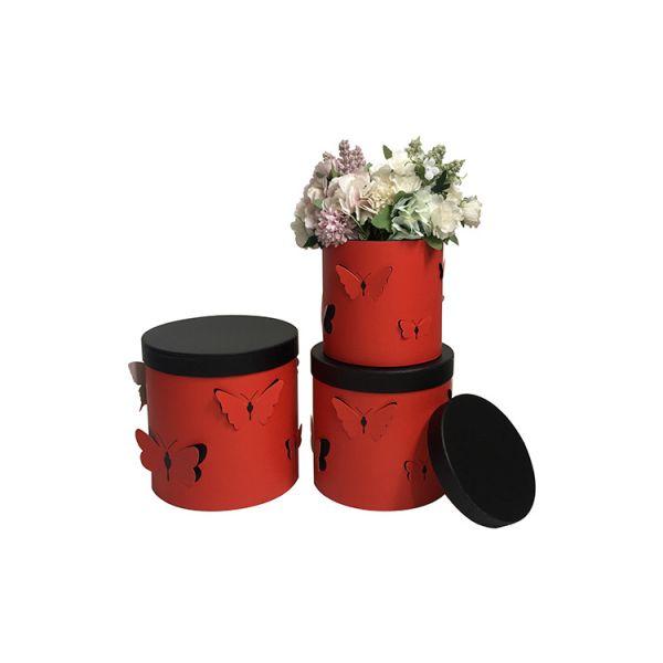 Set 3 cutii flori s3.116 rosu
