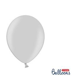 Baloane 27cm argintiu s/100